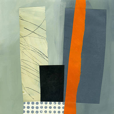 Abstract Collage Painting - Pattern Grid #18 by Jane Davies
