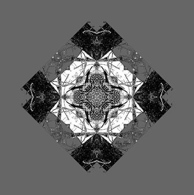 Digital Art - Pattern In Black White by Deleas Kilgore