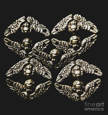 Cherub Wall Art - Photograph - Pattern Of Antique Cupid Angels  by Jorgo Photography - Wall Art Gallery