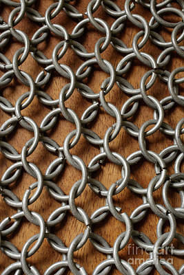 Photograph - Pattern Of Metal Rings by Edward Fielding