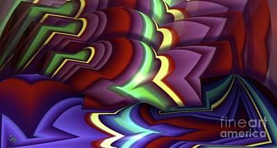 Pattern Art Print by Ron Bissett