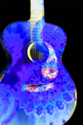 Photograph - Patterned Guitar by Adria Trail