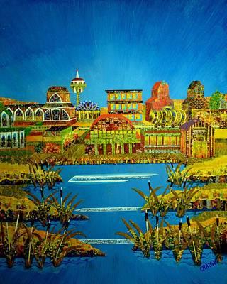 Mixed Media - Patterned Prairie by Bob Craig