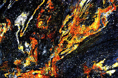 Art Print featuring the photograph Patterns In Stone - 187 by Paul W Faust - Impressions of Light