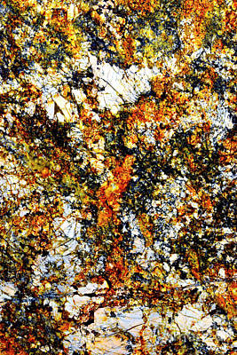 Art Print featuring the photograph Patterns In Stone - 207 by Paul W Faust - Impressions of Light