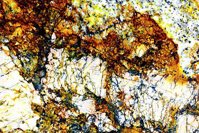 Art Print featuring the photograph Patterns In Stone - 210 by Paul W Faust - Impressions of Light