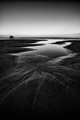 Designs In Nature Photograph - Patterns In The Sand by Jon Glaser