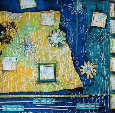 Daisy Mixed Media - Patterns  by Laura Lein-Svencner