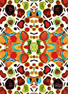 Mixed Media - Patterns Within Patterns by Jolanta Anna Karolska