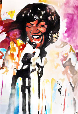 Labelle Painting - Patti Labelle by Ethan Abbott
