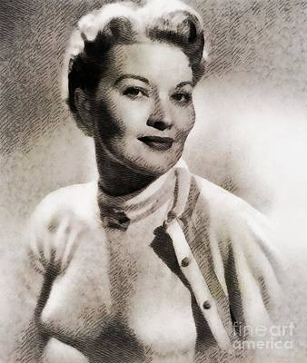 Music Paintings - Patti Page, Music Legend by Esoterica Art Agency