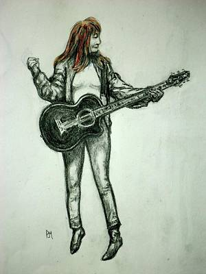 Drawing - Patti by Pete Maier