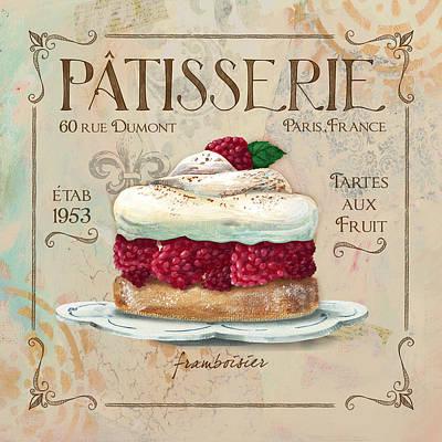 Raspberry Mixed Media - Pattiserie Framboisier by Fiona Stokes Gilbert