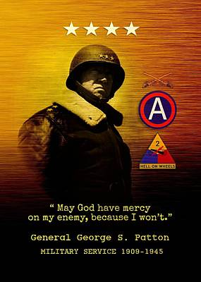 Patton Tribute Art Print by John Wills