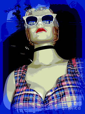 Digital Art - Patty In Plaid by Ed Weidman