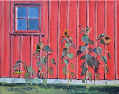Patty's Sunflowers Original by Donna Tuten