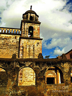 Patzcuaro Photograph - Patzcuaro Bell Tower by Mexicolors Art Photography