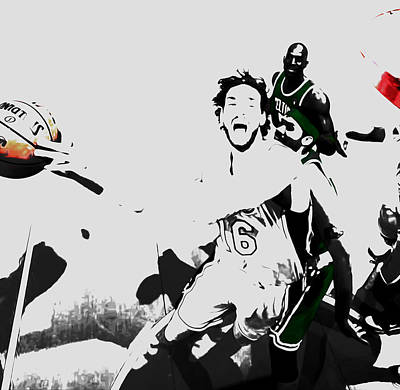 Rajon Mixed Media - Pau Gasol 2c by Brian Reaves