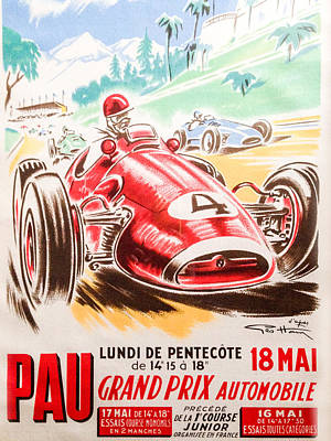 Pau Photograph - Pau Grand Prix 1959 by Georgia Fowler