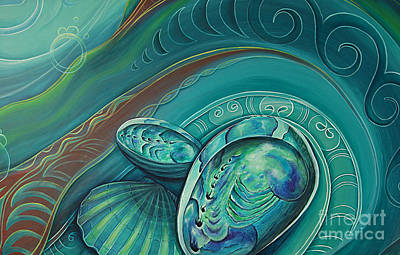 Painting - Paua Seabed By Reina Cottier by Reina Cottier