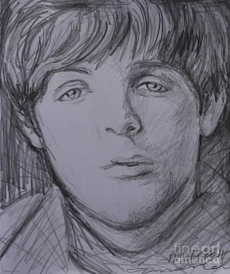 Mccartney Drawing - Paul  by Amanda Li