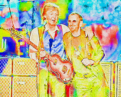 Digital Art - Paul And Ringo_psychedelic by Trey Foerster