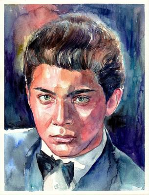 Paul Anka Young Portrait Original