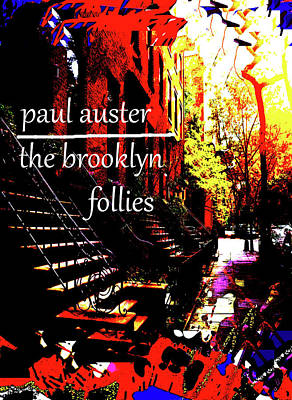Modern Man Surf - Paul Auster Poster brooklyn  by Paul Sutcliffe