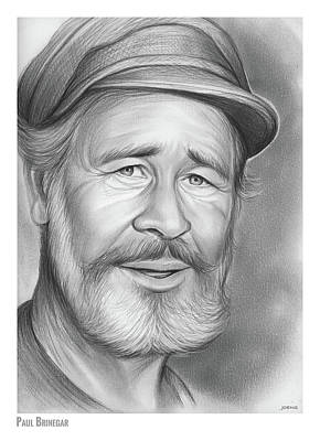 Drawing - Paul Brinegar by Greg Joens