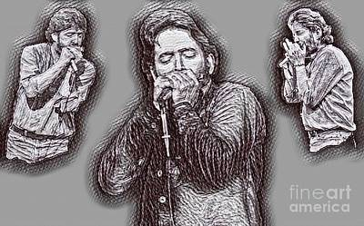 Musicians Drawings - Paul Butterfield Drawing by Pd