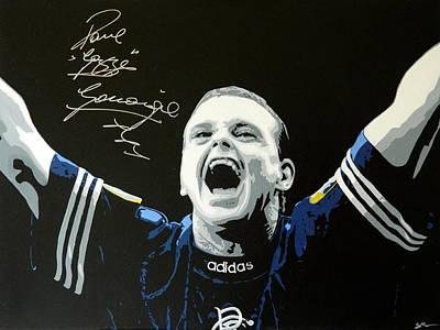 Messi Painting - Paul Gascoigne  by Scott Strachan