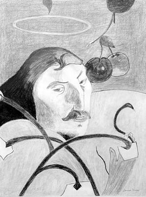 Drawing - Paul Gauguin by Jamie Frier
