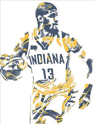 Free Mixed Media - Paul George Indiana Pacers Pixel Art 10 by Joe Hamilton