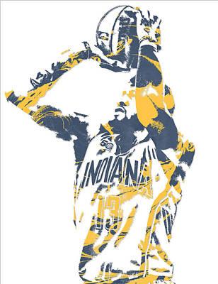 Free Mixed Media - Paul George Indiana Pacers Pixel Art 12 by Joe Hamilton