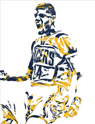 Paul George Indiana Pacers Pixel Art 5 Art Print