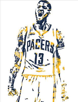 Paul George Indiana Pacers Pixel Art 6 Art Print