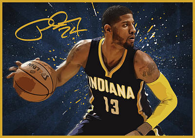 Blake Digital Art - Paul George by Semih Yurdabak