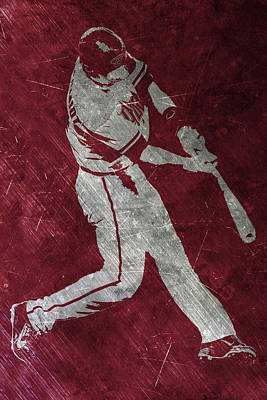 Diamondback Painting - Paul Goldschmidt Arizona Diamondbacks Art by Joe Hamilton