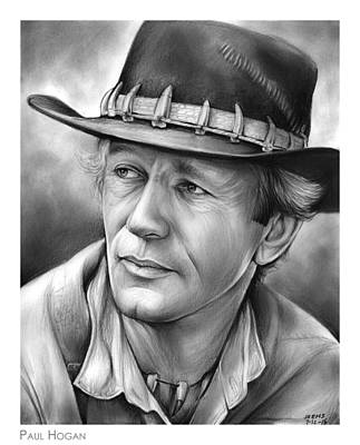 Celebrities Drawing - Paul Hogan by Greg Joens