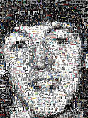 Paul Mccartney Beatles Mosaic Art Print by Paul Van Scott