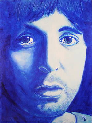 Painting - Paul Mccartney Beatles White Album by Bob Baker