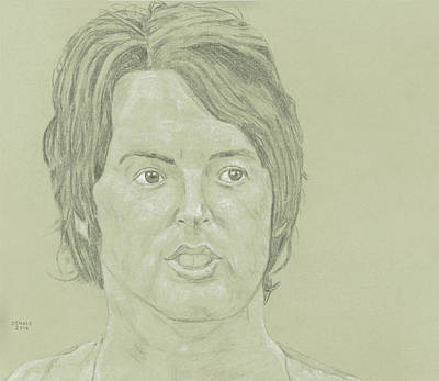 Mccartney Drawing - Paul Mccartney by Dennis Larson