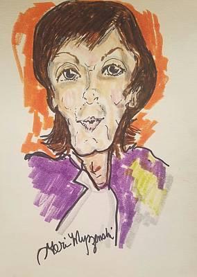 Disney Artist Painting - Paul Mccartney by Geraldine Myszenski