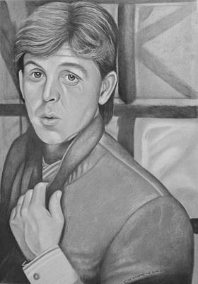 Mccartney Drawing - Paul Mccartney by Jimmy Cothren