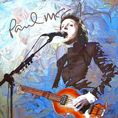 Singer Digital Art - Paul Mccartney One by Linda Mears