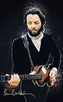 Concert Digital Art - Paul Mccartney by Taylan Apukovska