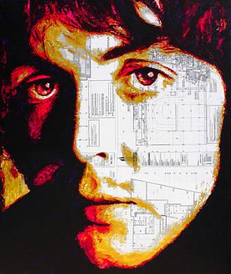 Painting - Paul Mccartney The Beatles by Havi