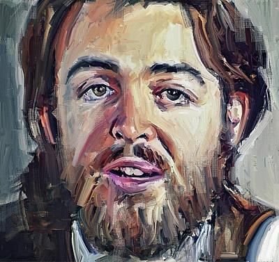 Digital Art - Paul Mccartney Young My Guitar by Yury Malkov