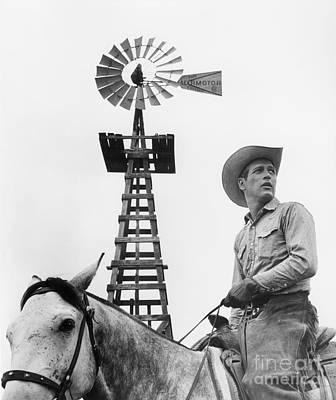 Cowboy Hat Photograph - Paul Newman (1925-2008) by Granger