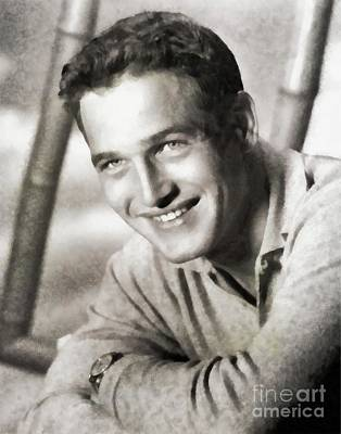 Musician Royalty-Free and Rights-Managed Images - Paul Newman, Actor by John Springfield